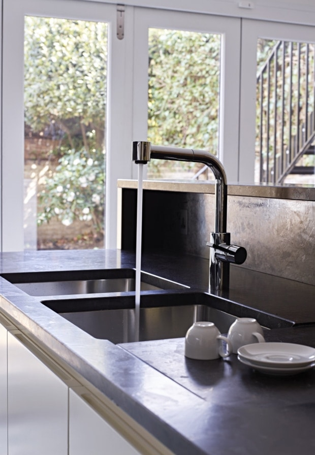 Heritage mixer tap for the kitchen