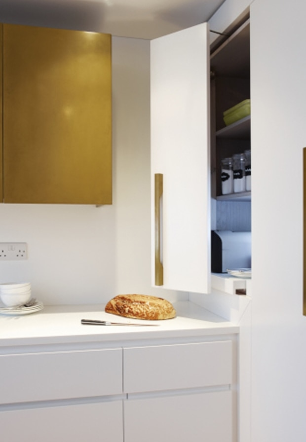 Fold out cabinet doors from the Horley kitchen concept