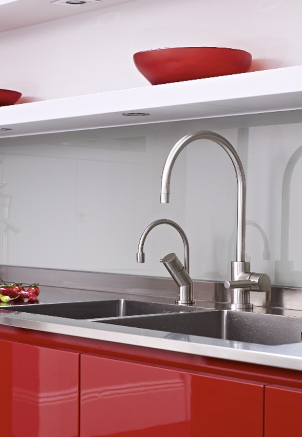 Set of two mixer taps from the Horley kitchen extension concept