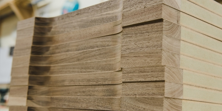 Stacked wood material
