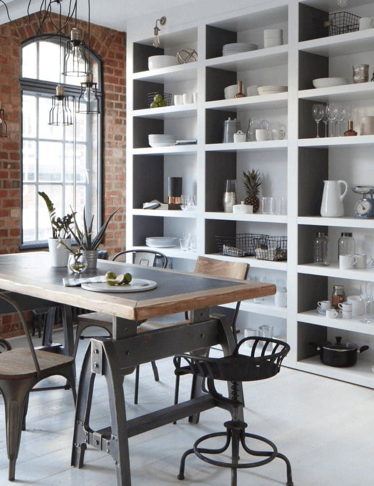 Industrial dining area concept
