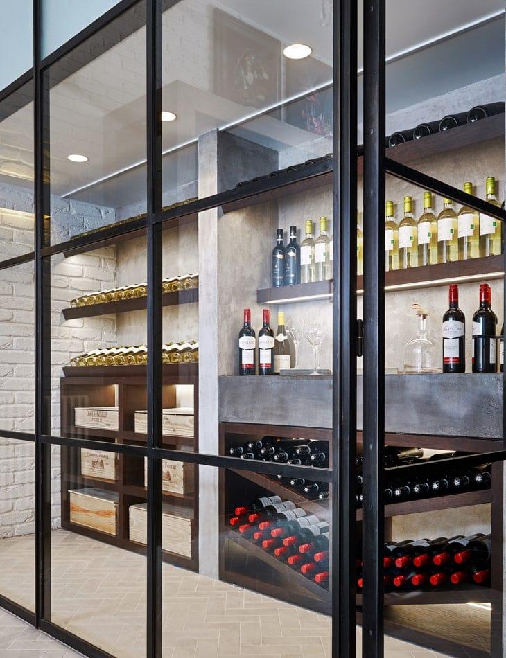 Kitchen wine cellar concept