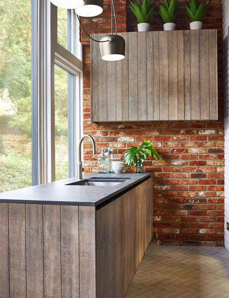 Broseley wood and brick kitchen concept