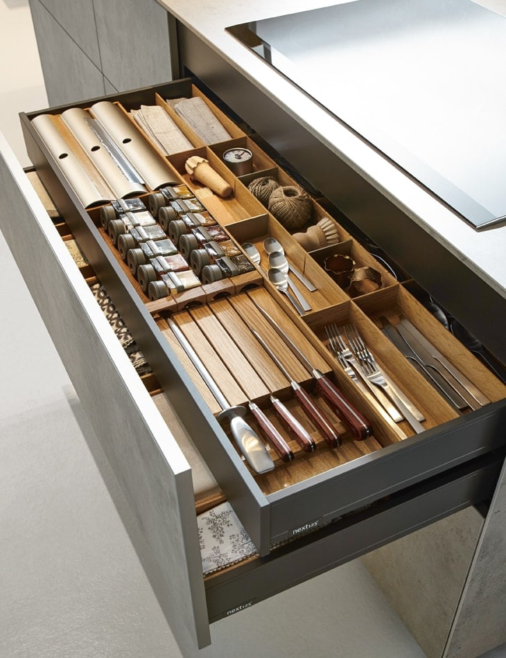 Contemporary stacked draw organisers