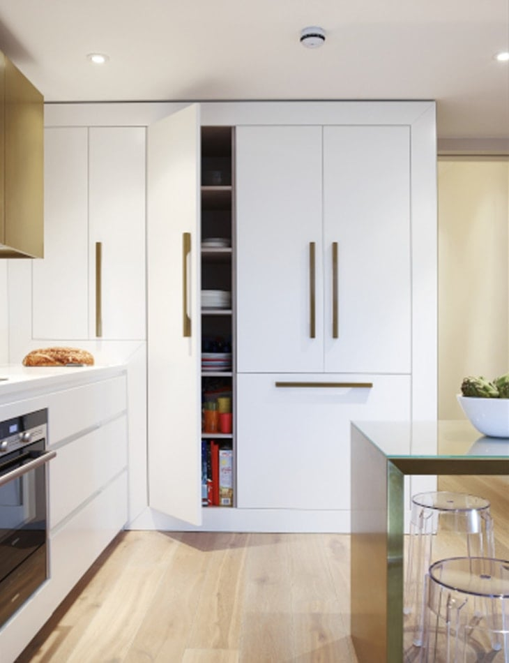 Storage cabinets in the Horley kitchen extension concept