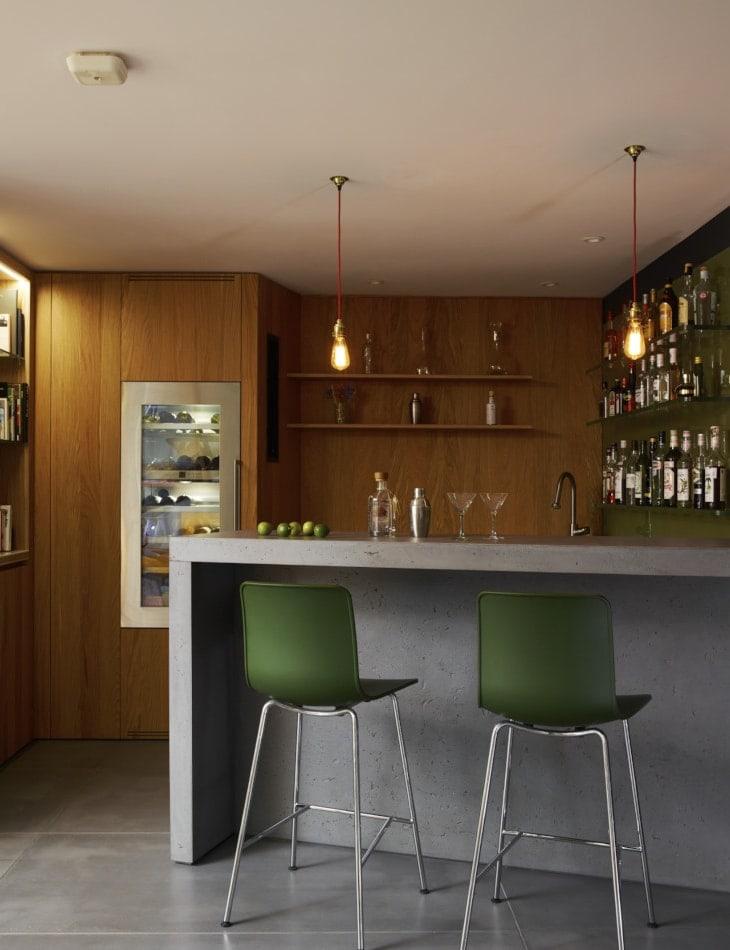 Uplands home bar island concept