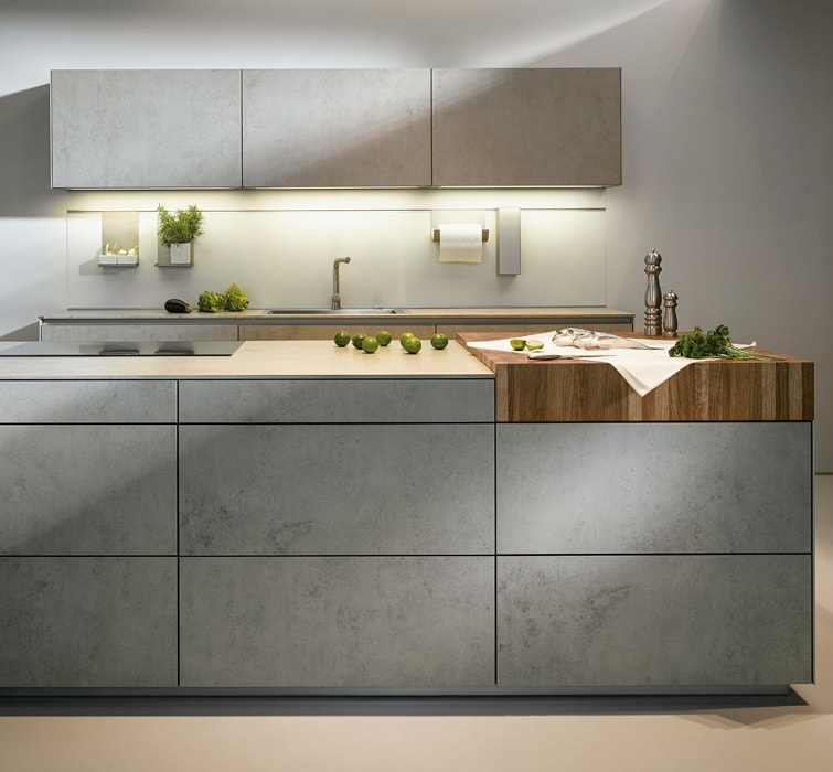 Cement contemporary kitchen concept