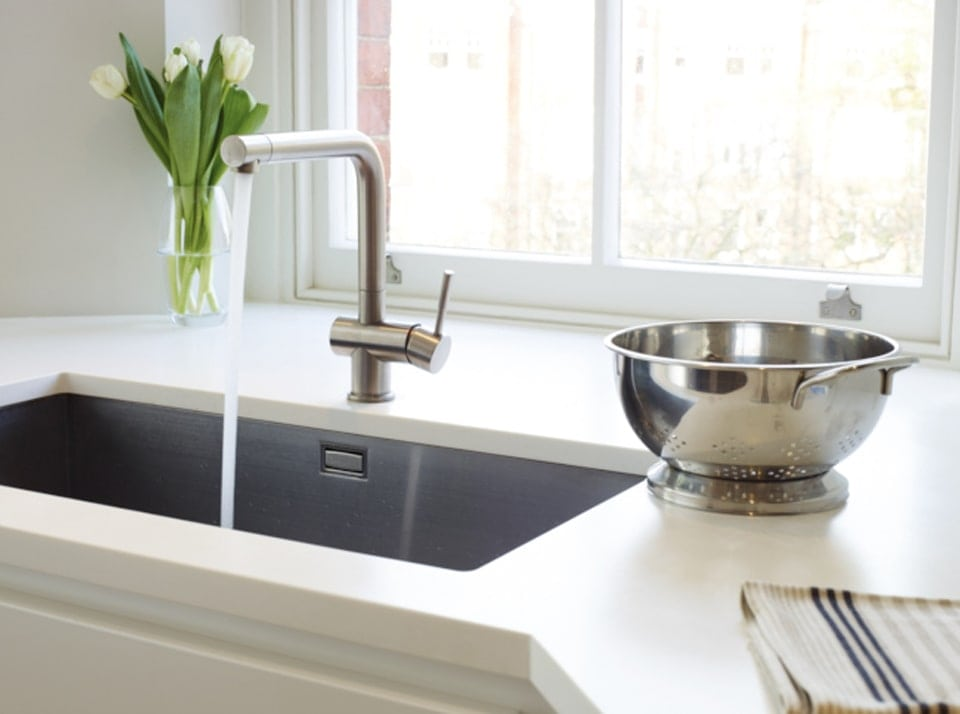 Modern mixer sink fitted in the Horley kitchen extension concept