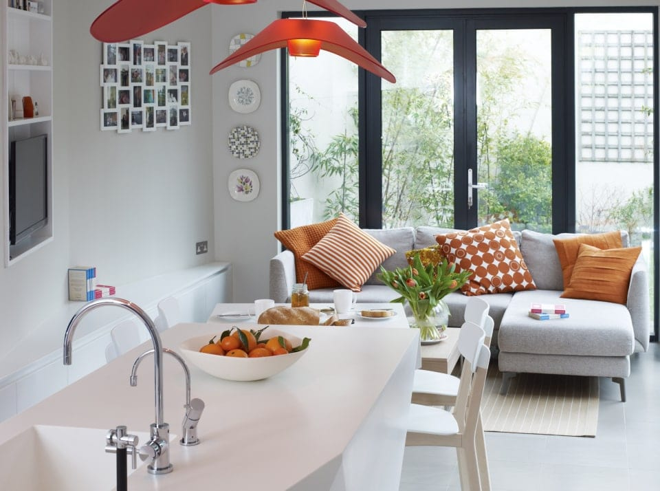 Art deco Jones kitchen, diner and lounge extension concept