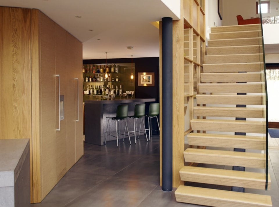 Uplands feature staircase and kitchen island concept