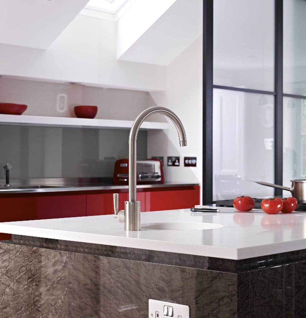 Sleek, modern tap from the Horley kitchen extension concept