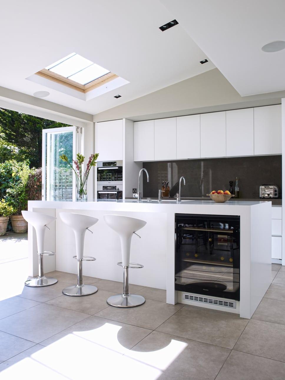 Esmund island concept with wine fridge