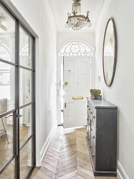 Hallway concept with parquet flooring