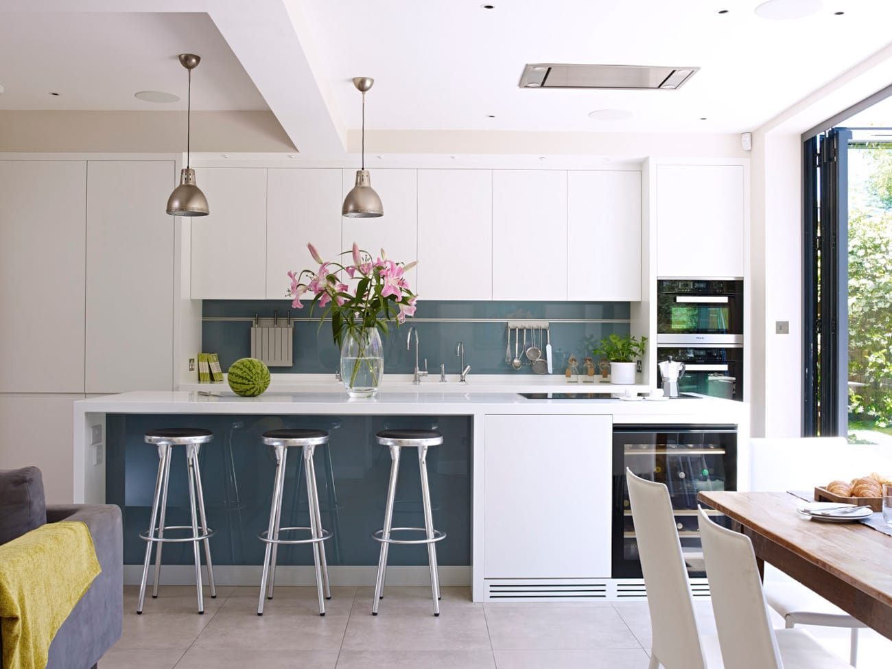 Classic, modern Pike kitchen extension concept with wine fridge