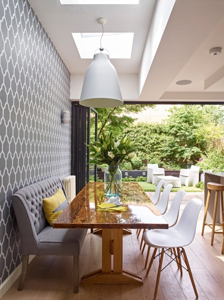 Dining area of Tregenza style kitchen extension