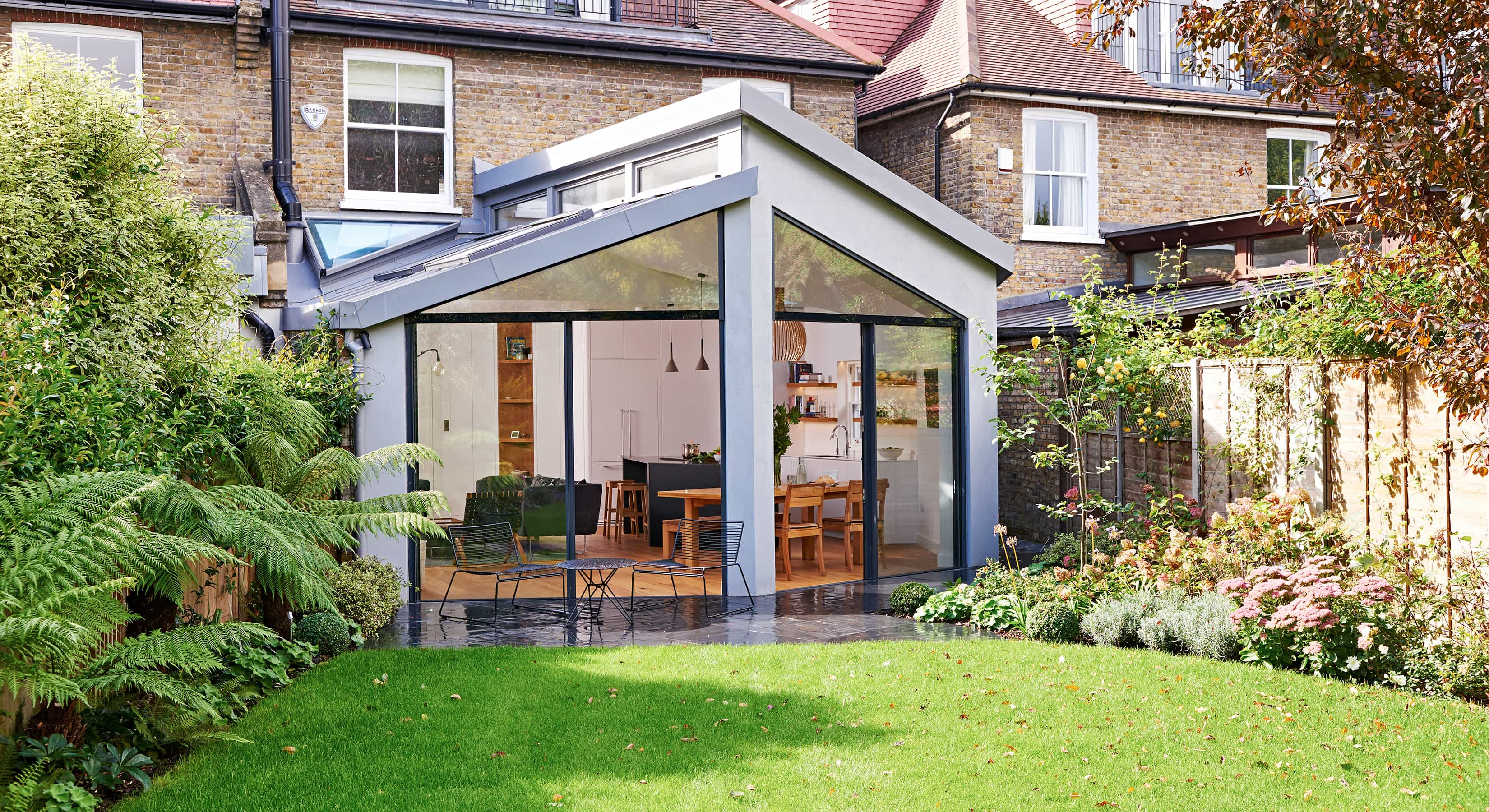Exterior of a Viers open-plan kitchen extension concept