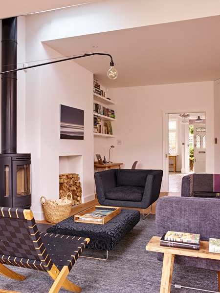 Viers lounge with log burner concept